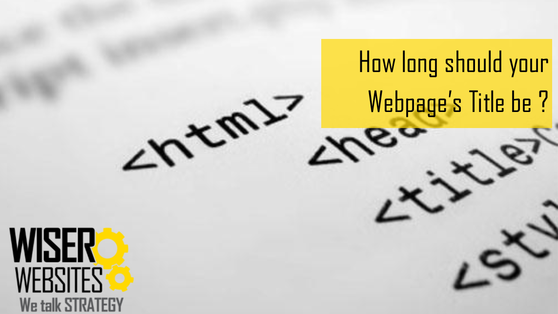 Page Title length Search Engine Optimisation
